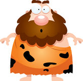 Surprised Cartoon Caveman Stock Photography