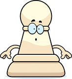 Surprised Cartoon Chess Pawn Stock Photography