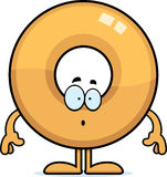 Surprised Cartoon Doughnut Stock Image