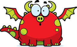 Surprised Cartoon Dragon Royalty Free Stock Images