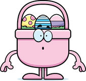 Surprised Cartoon Easter Basket Stock Photography