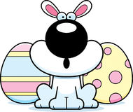 Surprised Cartoon Easter Bunny Royalty Free Stock Photography