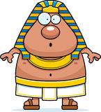 Surprised Cartoon Egyptian Pharaoh Stock Photo