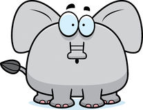 Surprised Cartoon Elephant Royalty Free Stock Photography