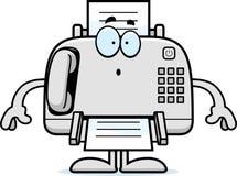 Surprised Cartoon Fax Machine Stock Photo