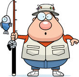 Surprised Cartoon Fisherman Stock Photos