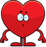 Surprised Cartoon Heart Stock Photo