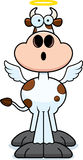 Surprised Cartoon Holy Cow. A cartoon illustration of a holy cow looking surprised Royalty Free Stock Photography