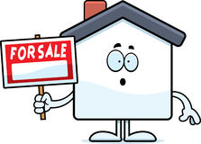 Surprised Cartoon Home Sale Royalty Free Stock Photo