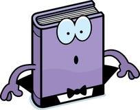 Surprised Cartoon Horror Novel. A cartoon illustration of a horror novel looking surprised Stock Photos