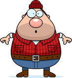 Surprised Cartoon Lumberjack Royalty Free Stock Photo