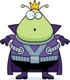 Surprised Cartoon Martian King Royalty Free Stock Photography