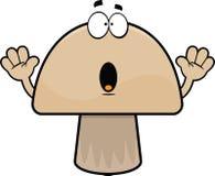 Surprised Cartoon Mushroom Stock Photography