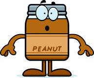 Surprised Cartoon Peanut Butter Stock Photography