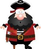 Surprised Cartoon Pirate Stock Photography
