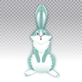 Surprised cartoon rabbit. Funny bunny. Cute hare. Vector illustration Stock Images