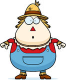 Surprised Cartoon Scarecrow Royalty Free Stock Images
