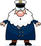 Surprised Cartoon Sea Captain Royalty Free Stock Image
