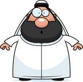 Surprised Cartoon Sheikh Stock Photo