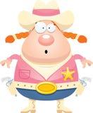 Surprised Cartoon Sheriff Royalty Free Stock Image