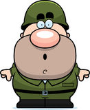Surprised Cartoon Soldier Stock Photo