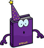 Surprised Cartoon Spell Book Royalty Free Stock Photo