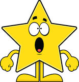 Surprised Cartoon Star Royalty Free Stock Photo