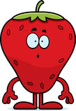 Surprised Cartoon Strawberry Royalty Free Stock Photography