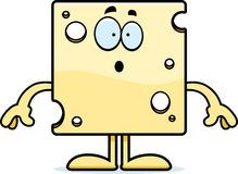 Surprised Cartoon Swiss Cheese Stock Photography