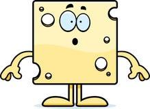 Surprised Cartoon Swiss Cheese Stock Photography