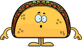 Surprised Cartoon Taco Royalty Free Stock Photography