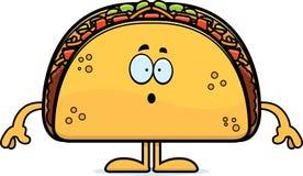 Surprised Cartoon Taco Royalty Free Stock Photography