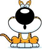 Surprised Cartoon Tasmanian Tiger Royalty Free Stock Photos