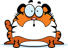 Surprised Cartoon Tiger Royalty Free Stock Image