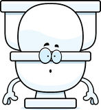 Surprised Cartoon Toilet Royalty Free Stock Photography
