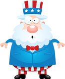 Surprised Cartoon Uncle Sam Royalty Free Stock Photography
