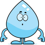Surprised Cartoon Water Drop Royalty Free Stock Images