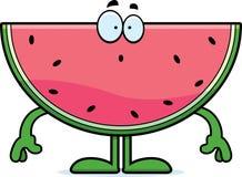 Surprised Cartoon Watermelon Stock Image