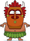 Surprised Cartoon Witch Doctor Royalty Free Stock Photo