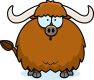 Surprised Cartoon Yak. A cartoon illustration of a yak looking surprised Stock Photography
