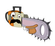 Surprised chainsaw cartoon Royalty Free Stock Photography