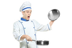 Surprised chef Stock Photo