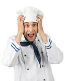 Surprised chef Royalty Free Stock Images