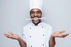 Surprised chef. Stock Photos
