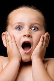 Surprised child Royalty Free Stock Photos