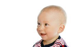 Surprised child. Adorable little child with surprised happy face Royalty Free Stock Photography