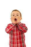 Surprised child boy Stock Photography