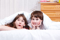Surprised children Stock Image