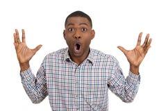 Surprised chocó al hombre Fotos de archivo libres de regalías