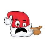 Surprised Christmas hat cartoon Stock Photography